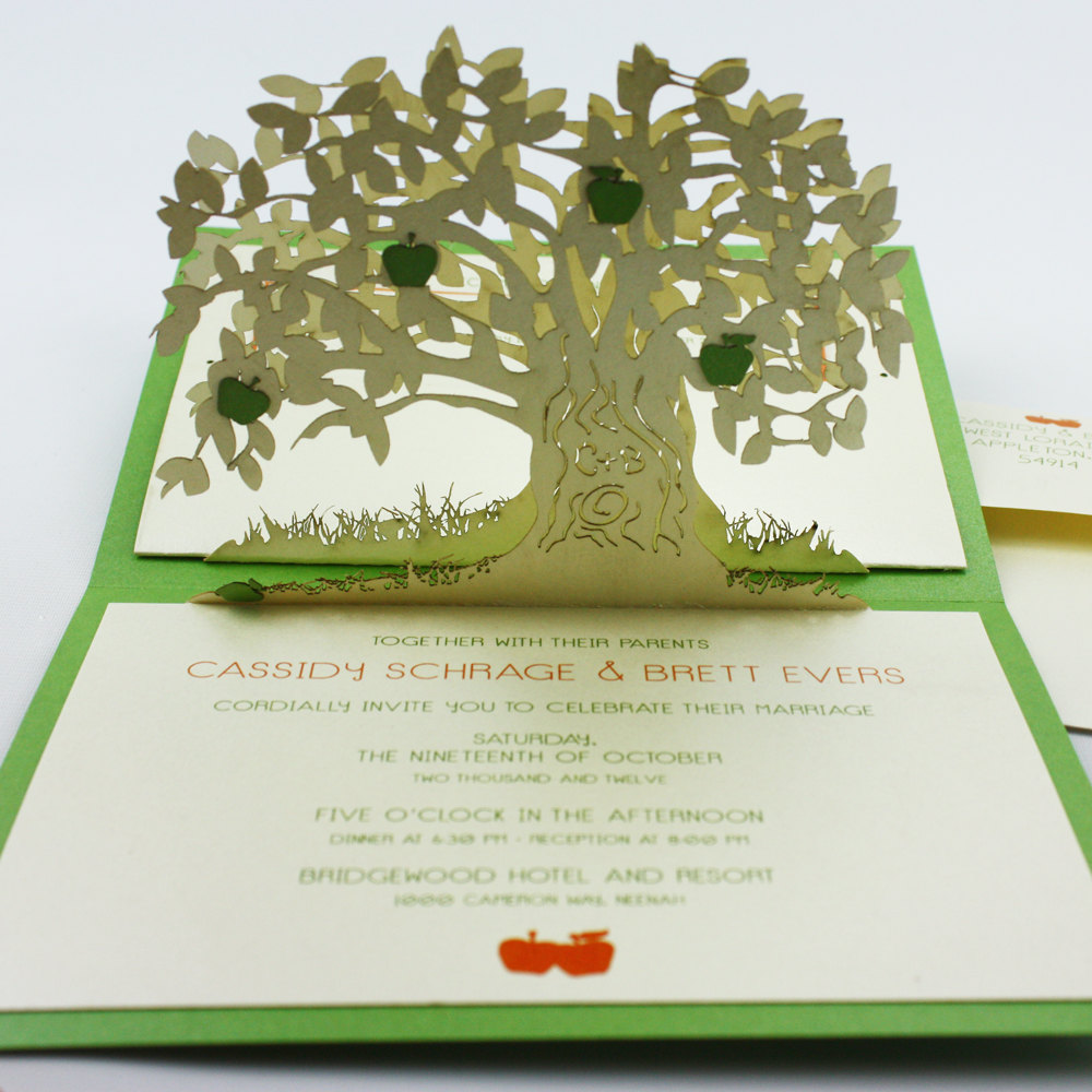 green tree wedding template