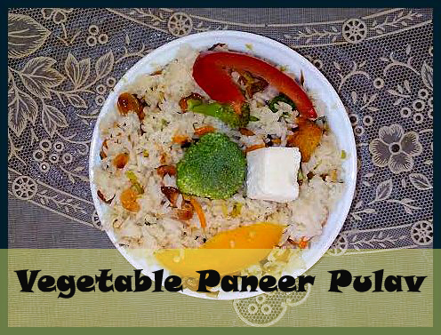 Vegetable Paneer Pulav Recipe