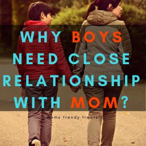 teenage boy and mom