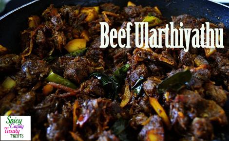 Beef Ularthiyathu (Kerala Special Beef Fry)